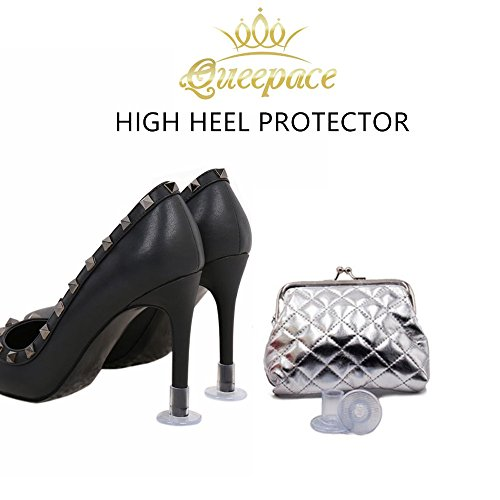Heel protectors high heels tips cover protectors stoppers Save your favorite shoes and Money Pack of 3 pairs (Cute Clear Shoe High Heel)