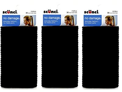 Scunci Effortless Beauty Large No-damage Elastics, 4 MM