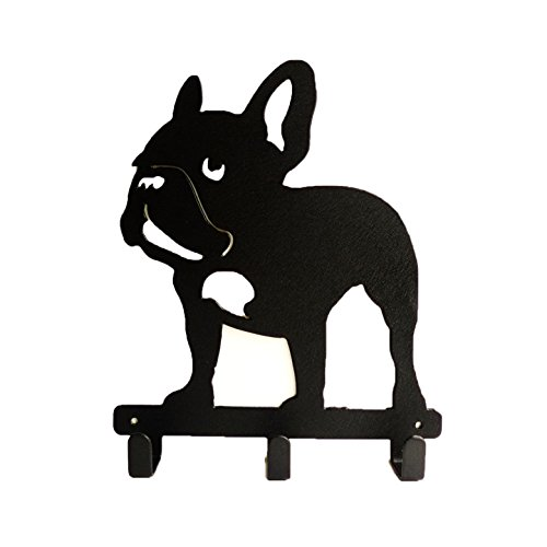 Frenchie French Bulldog Wall Metal Rack Hat Hanger Key Holder Hook