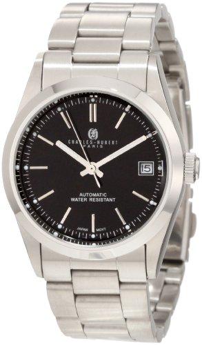 Charles-Hubert, reloj automático de acero inoxidable 3825 Premium Collection de París para hombre