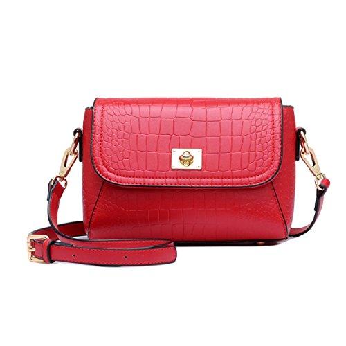 Ladies Bolso De Las Señoras Bolso De La Señora Bolso De Hombro Casual Bolso Pequeño,Red Red