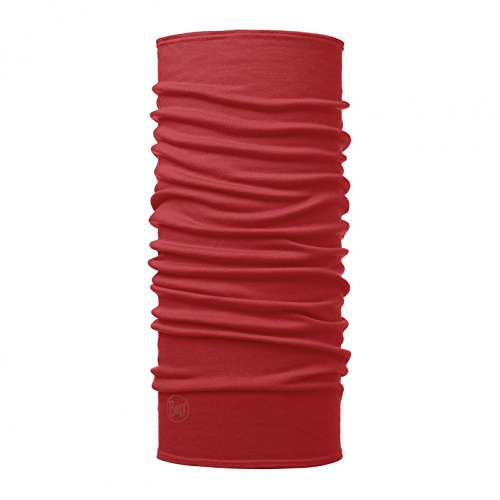 Buff Midweight merino wool, multifunctional cloth, Unisex, 113023.432.10.00, Solid Cranberry Red, One Size Original Buff S.A.