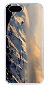 Hot iPhone 5S Customized Unique Print Design Mount Timpanogos And Clouds New Fashion PC White iPhone 5/5S Cases
