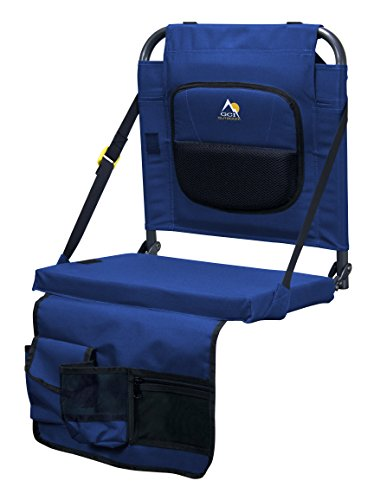 (GCI Outdoor BleacherBack Lumbar Stadium Seat with Padded Backrest, Royal)