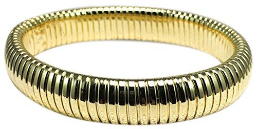 HamptonGems OMEGA STRETCH BRACELETS, CHOOSE: GOLD, SILVER, OR ROSE GOLD (GOLD)