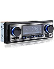 BeizhiyanYH Classic Bluetooth Car Stereo , FM Radio Receiver, Hands-Free Calling, Built-in Microphone, USB/SD/AUX Port, Support MP3/WMA/WAV, Dual Knob Audio Car Multimedia Player, Remote Control