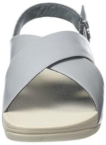 Fitflop Women's Lulu Cross Leather Back-Strap Sandals Blue (Dove Blue) manchester great sale online ou38rMeDNm