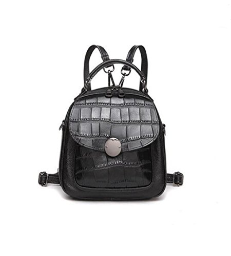 Black 4 8 inch Vtootkl 6 8 Lxopr bolso señora cuero mochila 3 6 mochila qwHvOq86