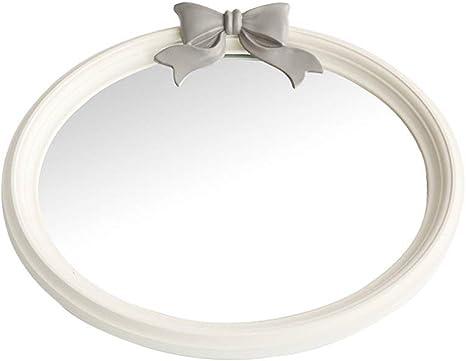 Specchio per Il Bagno JZ Specchio Rotondo in Legno massello a Parete Regolabile
