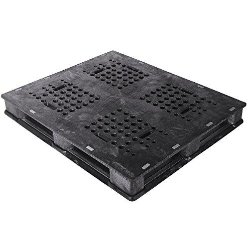 Buckhorn PU4840063310006 48'' x 40'' Universal Plastic Pallet, Black by Buckhorn