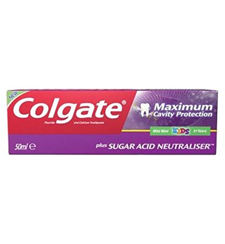 Colgate Maximum Cavity Protection Plus Sugar Acid Neutraliser Kids Toothpaste 50Ml - Pack of 2