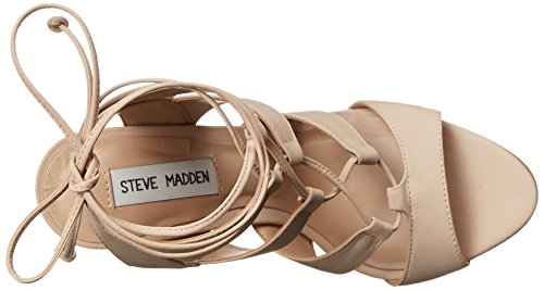 nabuk Maquillaje Sandalia Sandalia rosa cordones Steve con Madden polvo qgUFZT