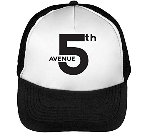 Blanco 5Th York Hombre Snapback Slogan Negro Beisbol Gorras Avenue New 7qrvz7