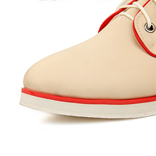 Girls Lace Color BalaMasa Beige Up Soft Low Shoes Pumps Material Assorted Heels xaHHp