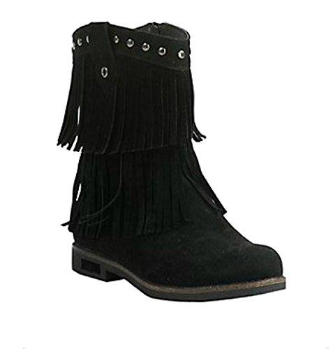 Corkys Kato Kvinners Fringed Ankel Boots Svart