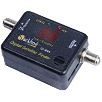 Gadget-Wagon 950 - 2150 MHz 13-18 V HD Digital Satellite Finder, Locator, Improver Tuner with Buzzer Sound Indicator for All Set Top Boxes(Black)