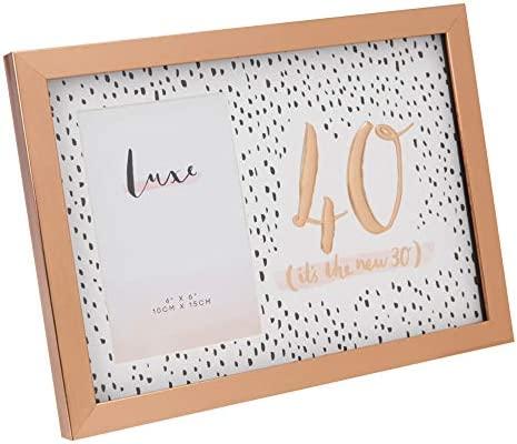 LUXE - Marco de Fotos para 40 cumpleaños, Acabado en Oro ...