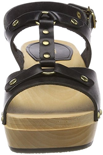 Rivet Women's hasbeens swedish Sandal Black Clog ETq5HB
