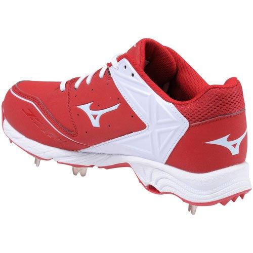 Mizuno Usa Mens Mens 9-spik Adv Swagger Baseball Cleat Röd-vit