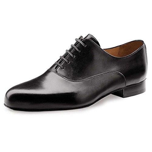 Werner Kern Hombres Zapatos de Baile 28015 - Cuero Negro - 2 cm Ballroom