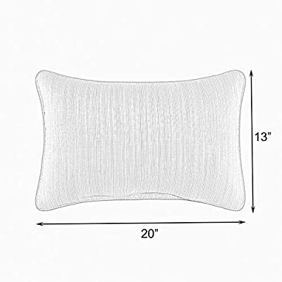 Mozaic AMZ176021SP Pillow, Grey Ombre : Garden & Outdoor