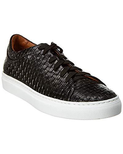 - Aquatalia Avery Waterproof Embossed-Leather Sneaker, 5.5, Black