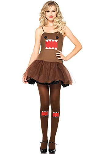 Mememall Fashion Japanese Character Domo Dress Female Dress Outfit Adult Costume (Real Spiderman Outfit)