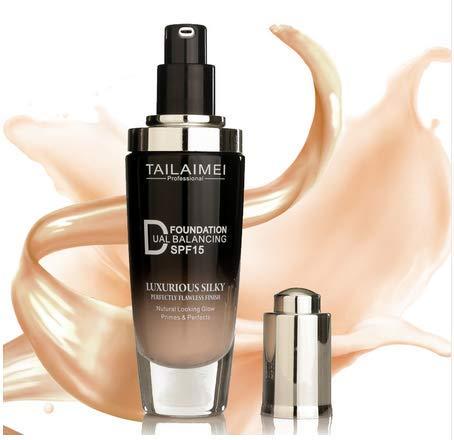 TLM Liquid Foundation - Block Hide Blemish Pores,Makeup SPF15 Sun,Cover Face Concealer Base Foundation Cream Cosmetics (Natural Color) (Best Makeup To Hide Pores)