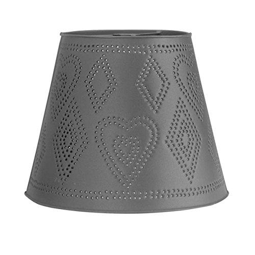 Lamp Shades Black Tin Lamp Shade Heart Punched 11 H X 13 1/2 Dia