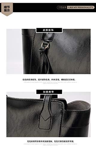 donna in borse Rzl con grandi tracolla per e grigio con Cross manico pelle wXxqRxA1