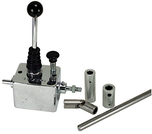 EMPI 16-2106 EMPI Chrome Super Shifter w/ Linkage for Rear Engine - VW Dune Buggy Bug Ghia Thing Bus Baja (Shifter Super)
