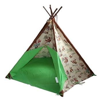 Wigwam Teepee Play Tent -Canvas - Cowboys u0026 Indians  sc 1 st  Amazon UK & Wigwam Teepee Play Tent -Canvas - Cowboys u0026 Indians: Amazon.co.uk ...