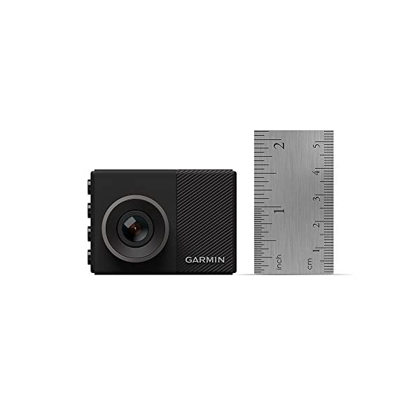 Garmin Dash Cam 45, 1080p 2.0″ LCD Screen, Extremely Small GPS-Enabled Dash Camera with Loop Recording