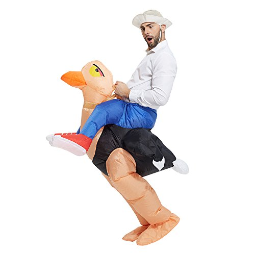 TOLOCO Adult Inflatable Ostrich Costume,Halloween Blow Up Costumes,Adult Size