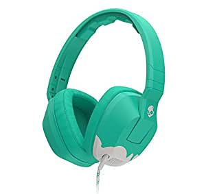 Skullcandy Crusher Headphones with Built-in Amplifier and Mic, Bunny Teal and Light Grey