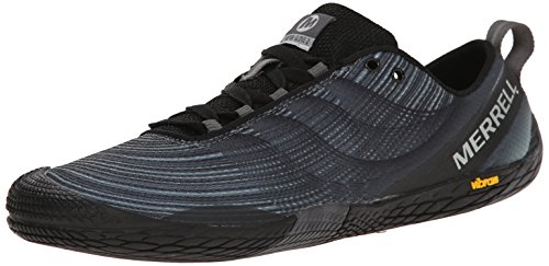 Merrell Men's Vapor Glove 2 Trail Running Shoe, Black/Castle Rock, 9.5 M US