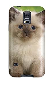 New Galaxy S5 Case Cover Casing(cat Animal Cat)