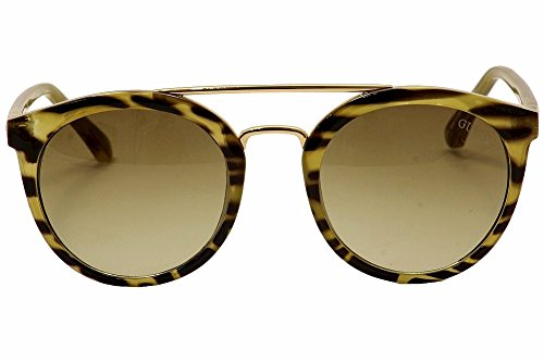 6786fe4265c8d Guess Double Bridge Round Sunglasses in Brown Horn GU7387 62F 52 ...
