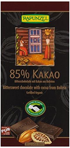 Rapunzel Bitterschokolade 85% Kakao HIH, 2er Pack (2 x 80 g) - Bio