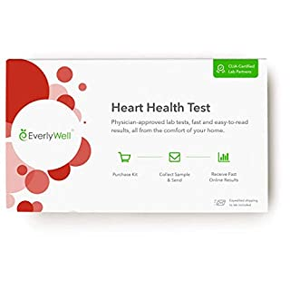 Everlywell Heart Health Test - at Home - CLIA-Certified Adult Test - Discreet Blood Analysis - Results Within Days - Measures Cholesterol, Triglyceride, and HbA1c Levels - Not Available in NY, NJ, RI