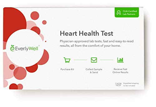 Everlywell Heart Health Test – at Home – CLIA-Certified Adult Test – Discreet Blood Analysis – Results Within Days…