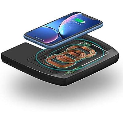 Womdee Wireless Phone Charger for Honda Civic  10W Fast Charging Wireless Charging Pad Mat for iPhone Samsung Galaxy  Anti-Slip Smartphone Wireless Charging Pad fit for 2016-2020 Honda Civic