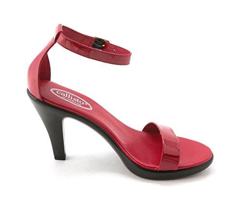 Callisto - Sandalias de vestir para mujer rojo (Red Patent)