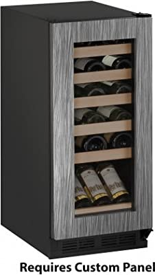 "U-Line U1215WCINT00B 15"" 1000 Series Wine Cooler with 24 Bottle Capacity, in Panel Ready"