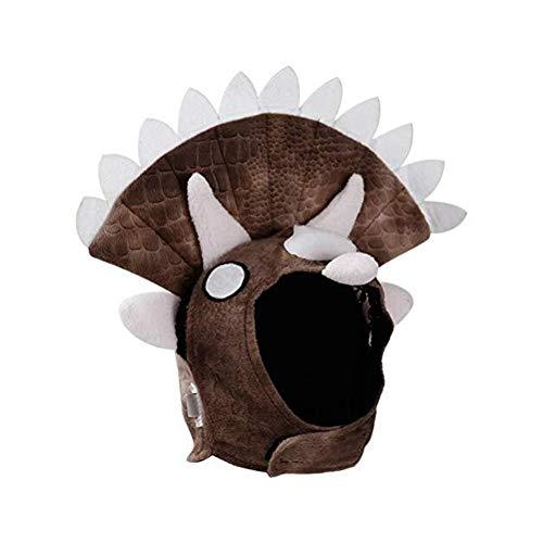 Pet Clothing Dog Triceratops Head Cap Dress Up
