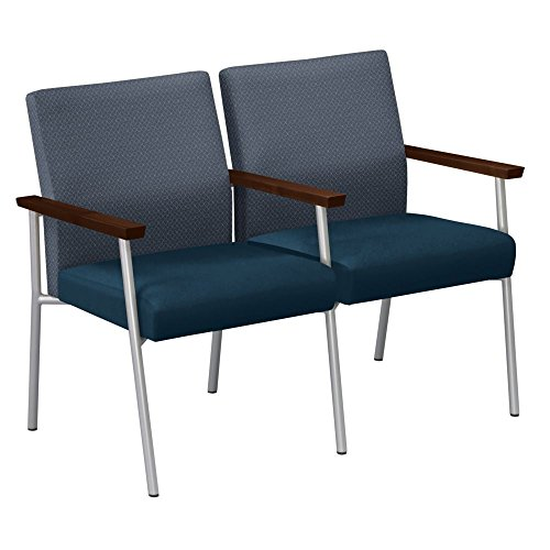 Uptown Two Seat Loveseat with Center Arm Dimensions: 45.5