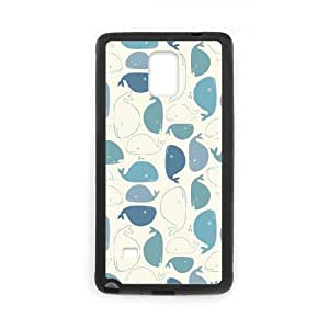 SOPHIA Phone Case Of cute Dolphins Cool Painting For Samsung Galaxy Note 4