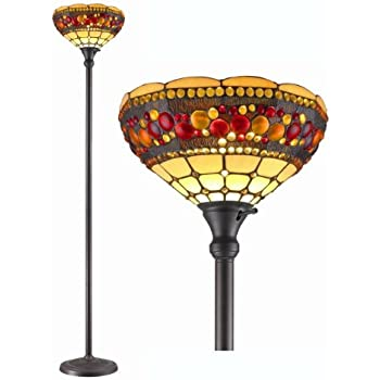 torchiere floor lamp with task light this item lighting style jeweled antique shades halogen parts