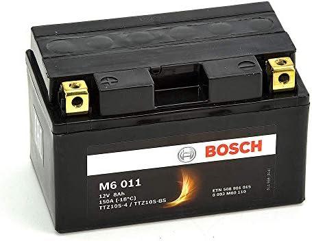Bosch M6011 Batería motocicleta YTZ10S-4 / YTZ10S-BS - 12 V AGM 8A/h-150A: Amazon.es: Coche y moto