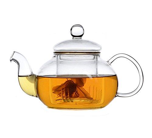 Teapot 20z/600ml Utensils All Glass Tea Coffee Cup furnace Set (20oz single pot)